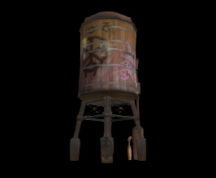 Wildstar Housing - Water Tower (Defaced)