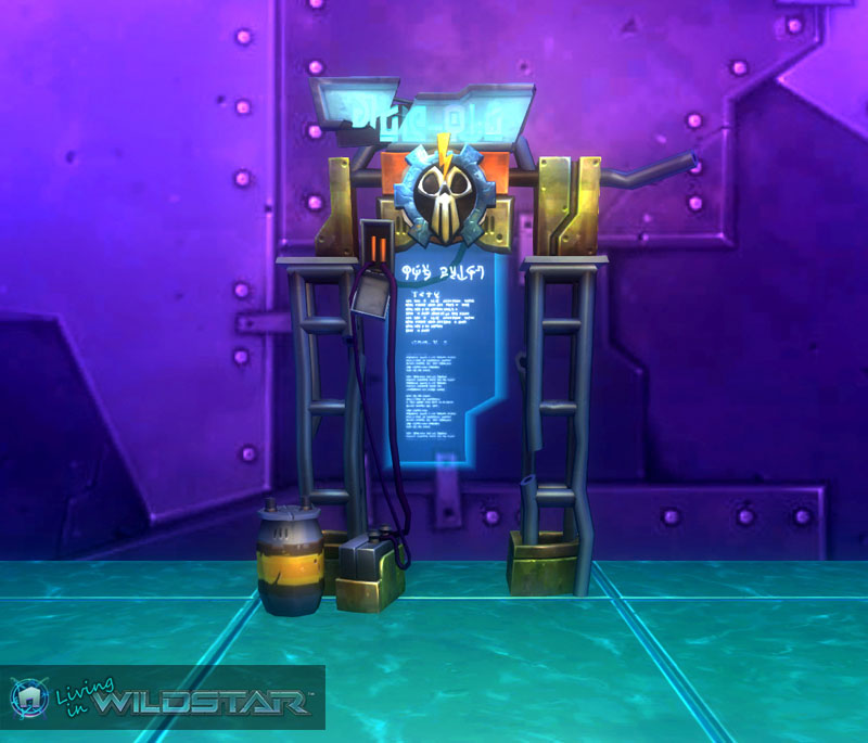 Wildstar Housing - Notice Board (Exile)