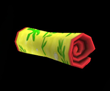 Wildstar Housing - Rolled Beach Towel (Seaweed)