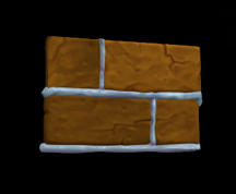 Wildstar Housing - Gingerbread Wall (Frosted)