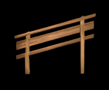 Wildstar Housing - Slanted Wooden Railing (Left, Short)