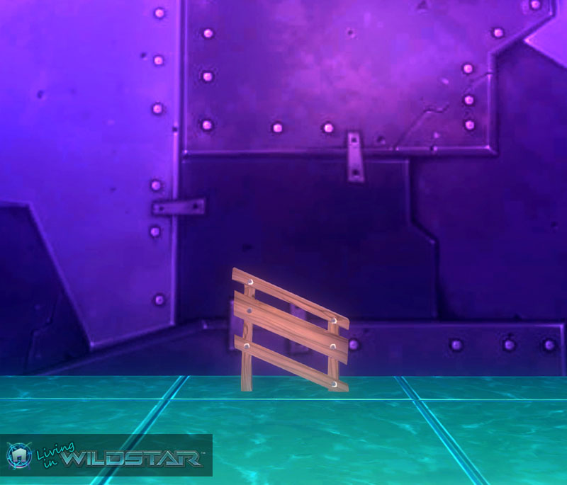 Wildstar Housing - Tiny Slanted Wooden Railing (Left)