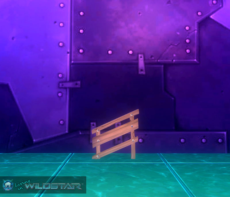 Wildstar Housing - Tiny Slanted Wooden Railing (Right)