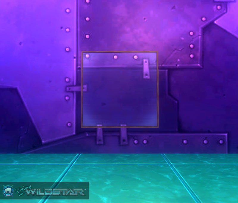 Wildstar Housing - Glass (Square) with Stained Wood