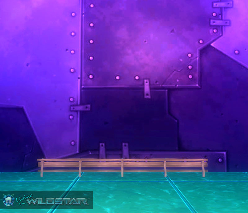 Wildstar Housing - Wooden Railing (Long)