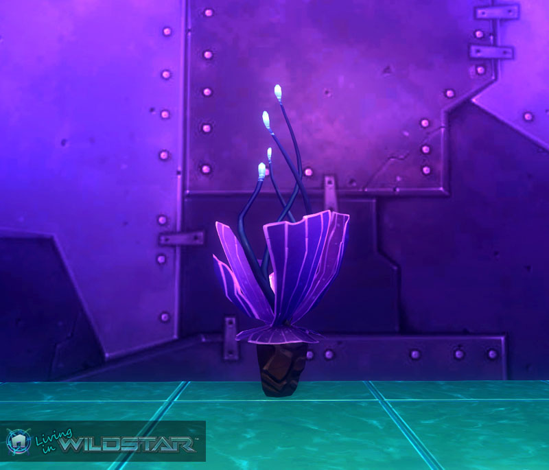 Wildstar Housing - Alien Purplant (Medium)