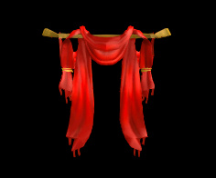 Wildstar Housing - Open Drapes (Red)