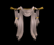 Wildstar Housing - Open Drapes (White)