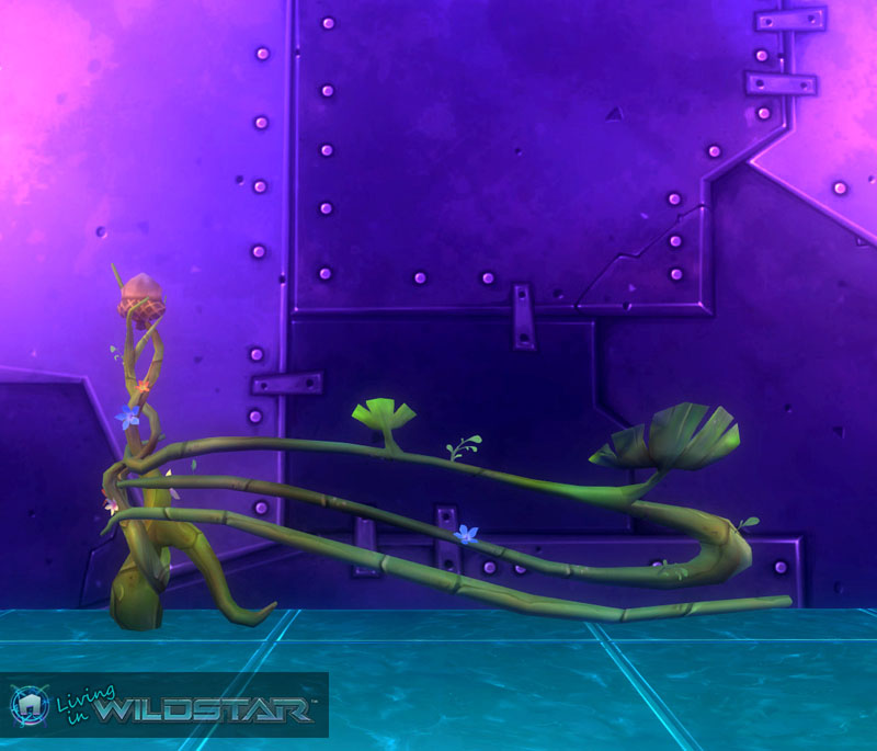 Wildstar Housing - Curved Floral Fence (Aurin)
