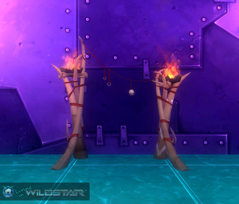 Wildstar Housing - Archway (Flaming)