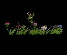 Wildstar Housing - Garden Flower Strip (Style 3)