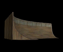 Wildstar Housing - Curved Quarter Pipe (Small)
