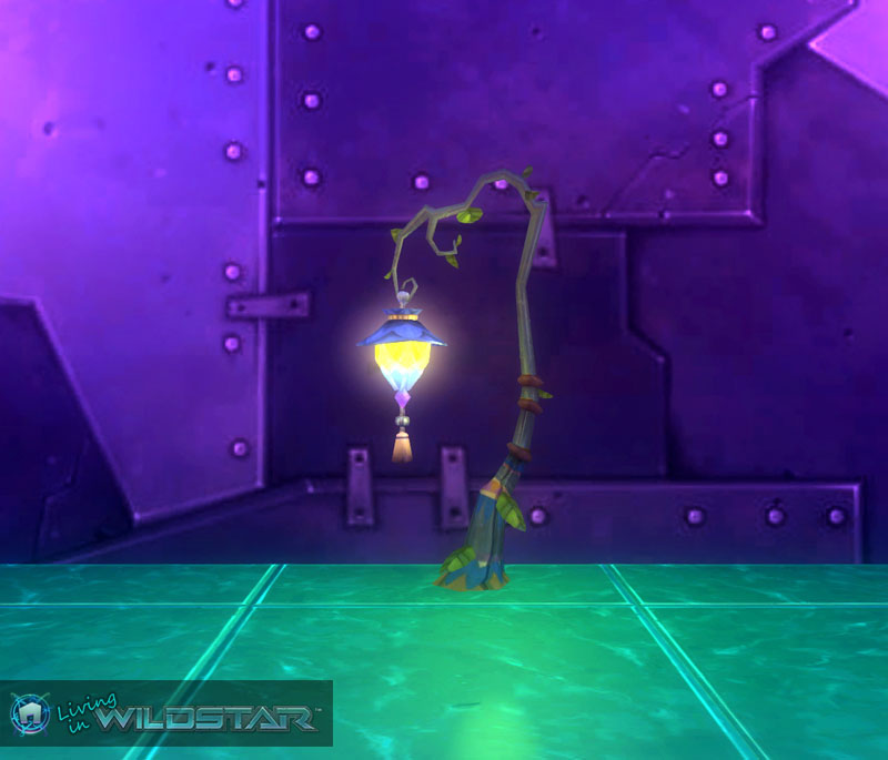 Wildstar Housing - Lamp Post (Aurin) with Lamp