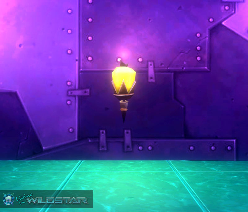 Wildstar Housing - Yellow Sconce (Aurin)