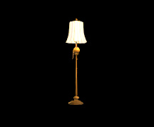Wildstar Housing - Standing Lamp (Brass)