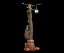 Wildstar Housing - Lamp Post (Exile)