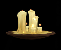Wildstar Housing - Frostforged Candles
