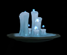 Wildstar Housing - Icefrost Candles