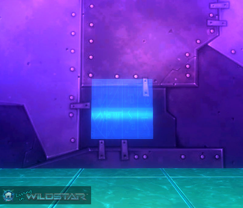 Wildstar Housing - Holo Screen (Blue)