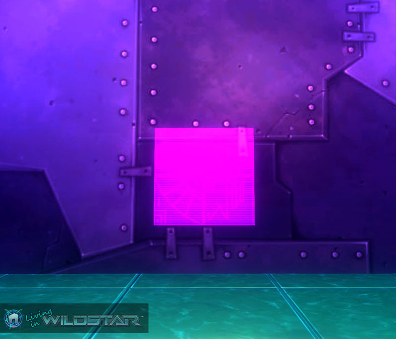 Wildstar Housing - Holo Screen (Purple)