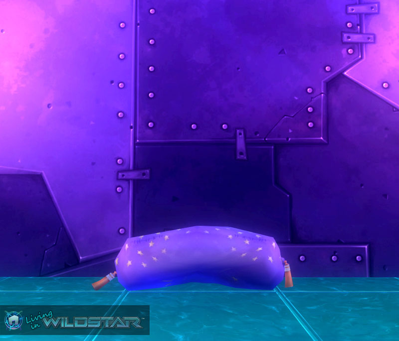 Wildstar Housing - Pillow Roll (Purple)