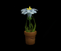 Wildstar Housing - Flower Pot (Blue)