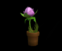 Wildstar Housing - Flower Pot (Purple)