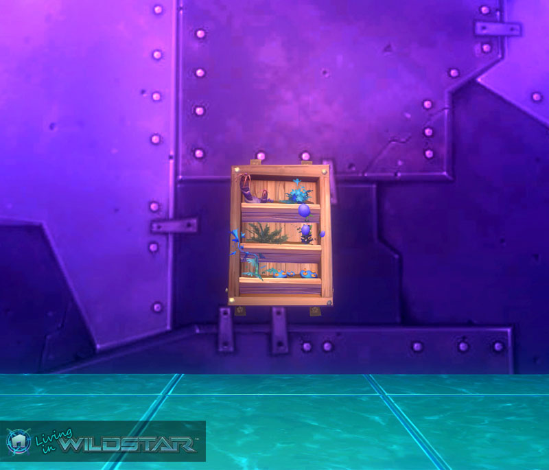 Wildstar Housing - Wall Planter (Wooden)