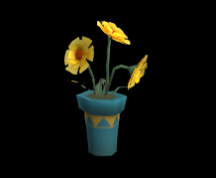 Wildstar Housing - Yellow Flowers (Potted)
