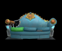 Wildstar Housing - Tattered Couch (Blue)