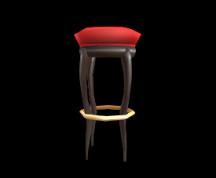 Wildstar Housing - Cushioned Bar Stool (Red)