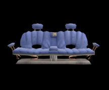 Wildstar Housing - Sofa Bench (Blue)