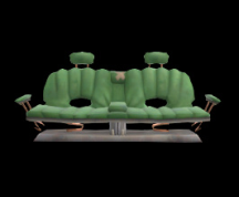 Wildstar Housing - Sofa Bench (Green)