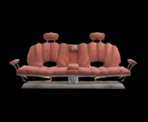 Wildstar Housing - Sofa Bench (Red)