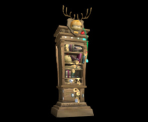 Wildstar Housing - Trophy Cabinet (Well-Stocked)