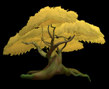 Wildstar Housing - Deciduous Tree (Golden)