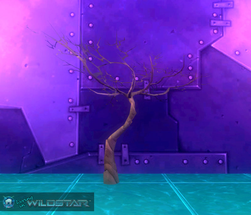Wildstar Housing - Withered Tree (Olive-Green)