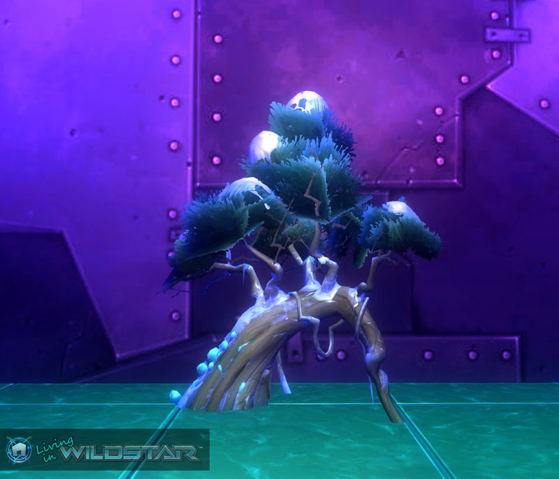 Wildstar Housing - Tree (Snow-Frosted, Pine)