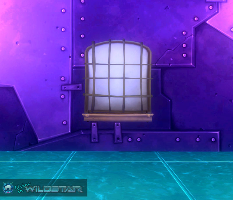 Wildstar Housing - Barred Window (Floral)